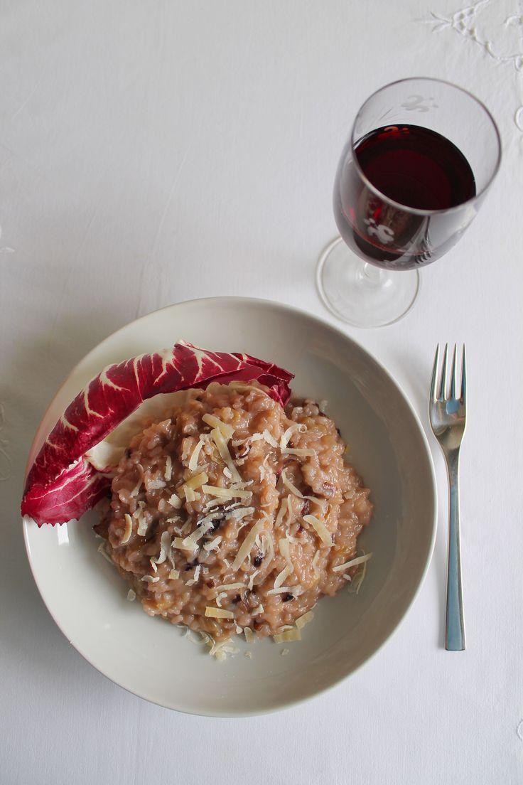Risotto al Vino Rosso con Radicchio e Parmigiano Reggiano