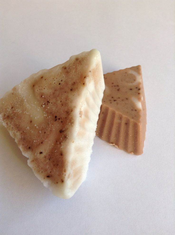 Chocolate and orange soap. Made with Glycerin and coconut oil M&P soap.