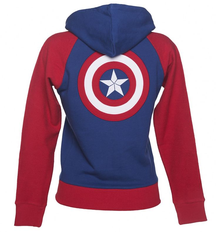 Women's Marvel Comics Captain America Shield Logo Zip Hoodie
