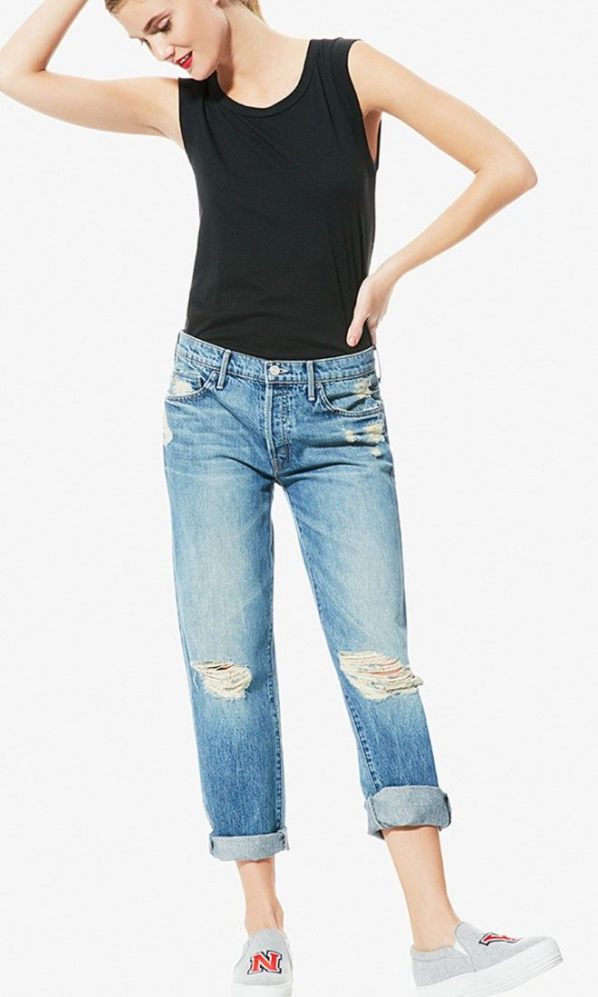 You know those worn-in boyfriend jeans you spotted some cool girl wearing? These are them.