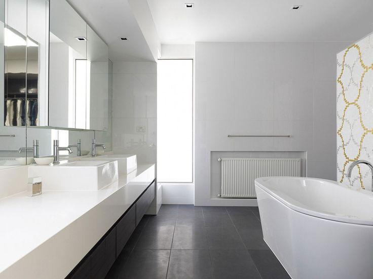 Roberts Street by Steve Domoney Architecture  7    White Bathroom DecorBathroom  Tile WallsModern  32 best twin bathroom images on Pinterest   Twin  Mosaic and  . Modern White Bathroom Tile. Home Design Ideas