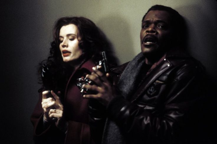 Geena Davis and Samuel L. Jackson in The Long Kiss Goodnight (1996)