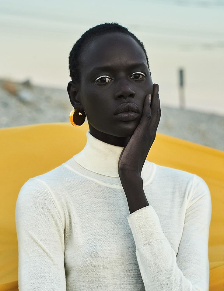 Photography: Egor Tsodov. Styled by: Mar Peidro. Hair & Makeup: Maddie North. Model: Ajak Deng.
