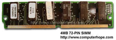 72-pin computer SIMM