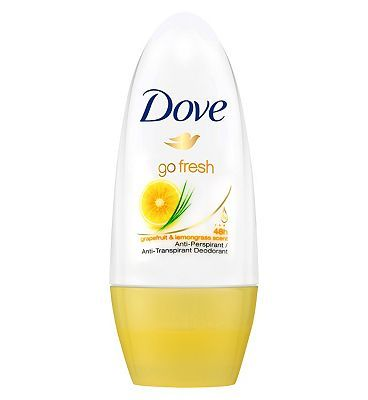 Dove Go Fresh Grapefruit Roll-On Deodorant 50ml 4 Advantage card points. Dove Go Fresh Grapefruit Roll-On Deodorant is a 24 hour anti-perspirant roll on deodorant with 1/4 Dove moisturising cream and 0% alcohol. FREE Delivery on orders over 45 GBP. http://www.MightGet.com/february-2017-1/dove-go-fresh-grapefruit-roll-on-deodorant-50ml.asp