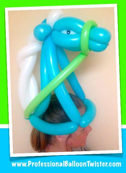 Just horsin' around with this fun balloon hat! Twisted fun! #OrangeCounty #LagunaHills #Balloons