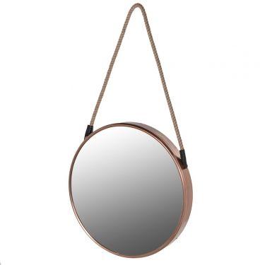 Круглое зеркало в медной раме | Настенные зеркала | Morsons.ru