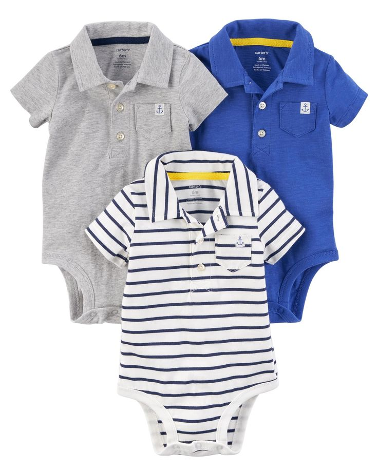 3-Pack Polo Bodysuits | Carters.com