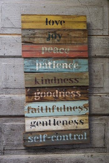 Fruit of the Spirit on Antique Wood by wewillgoarts on Etsy