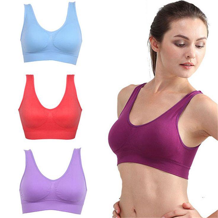 2016 Women Girls Padded Seamless Fitness Bra Vest Tops Rimless Bras Breathable Lingerie Underwear Plus Size