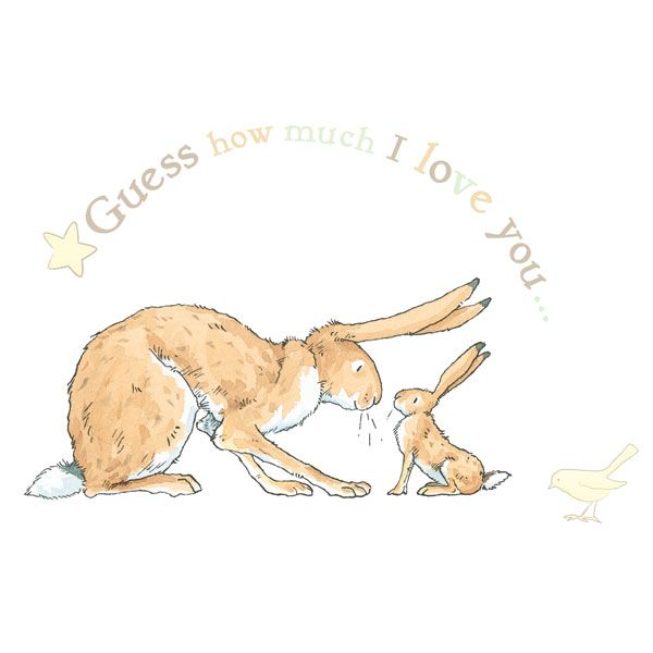 'Guess How Much I Love You' nursery wall stickers.