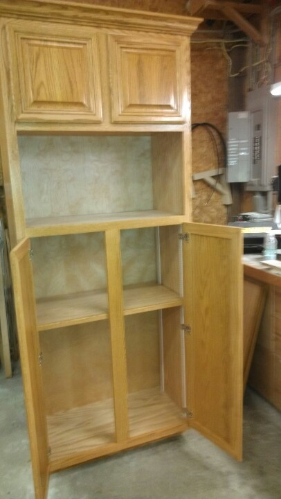 Custom Pantry And Microwave Cabinet Our Work Pinterest