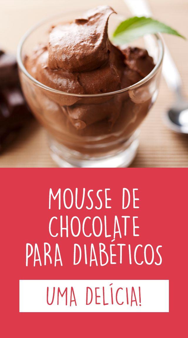 Esta receita de mousse de chocolate e abacate, além de ser fácil de fazer, é uma ótima opção de sobremesa para diabéticos, pois não tem açúcar nem gorduras saturadas.