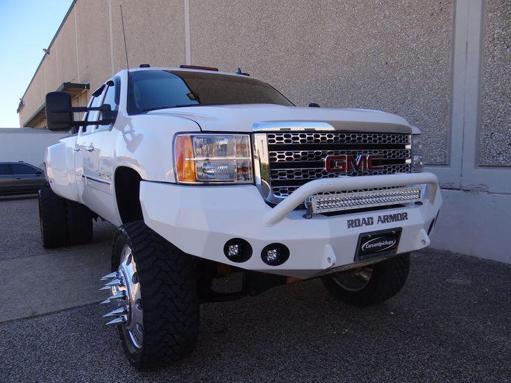 Nice Lifted White GMC Sierra Truck