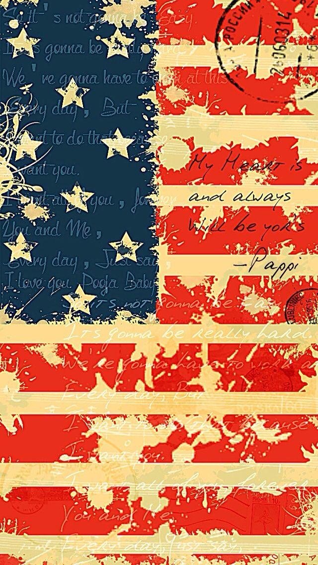 USA Flag wordings iPhone wallpaper mobile9 Usa flag