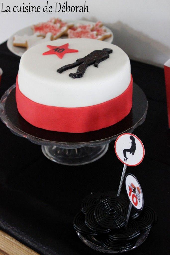 Michael Jackson birthday cake. Michael Jackson party! Gâteau d'anniversaire thème Michael Jackson! http://cuisinededeborah.com/gateau-michael-jackson/