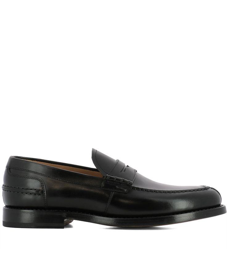 FABI BLACK LEATHER LOAFERS. #fabi #shoes #