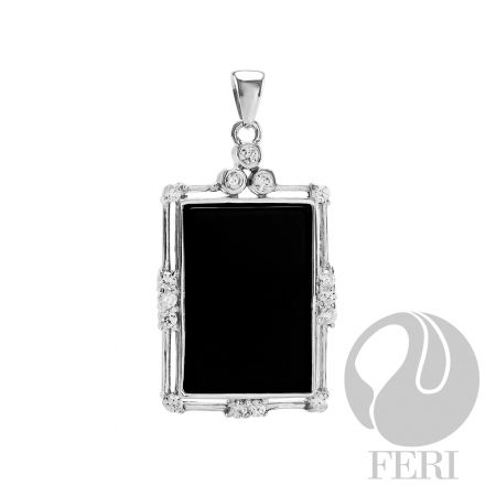 An amazing item from the FERI designer lines collection for $175 only. Message us to get 20% off.  This piece is set with AAA white cubic zirconia and onyx. It also has a 0.5 micron natural rhodium plating.  Our new customers enjoy a $15 shopping credit and upto 10% rebate on purchases.  We are also hiring and expanding our team so if you are looking to make some additional income on the side & be part of an exciting industry visit http://opportunity.feristore.com