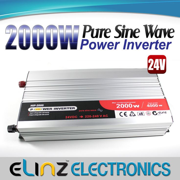 Pure Sine Wave Power Inverter 2000w/4000w 24v - 240v AUS plug Truck Car Caravan