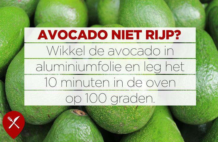 Met deze tip hoef je nooit meer te wachten tot je avocado volledig rijp is!