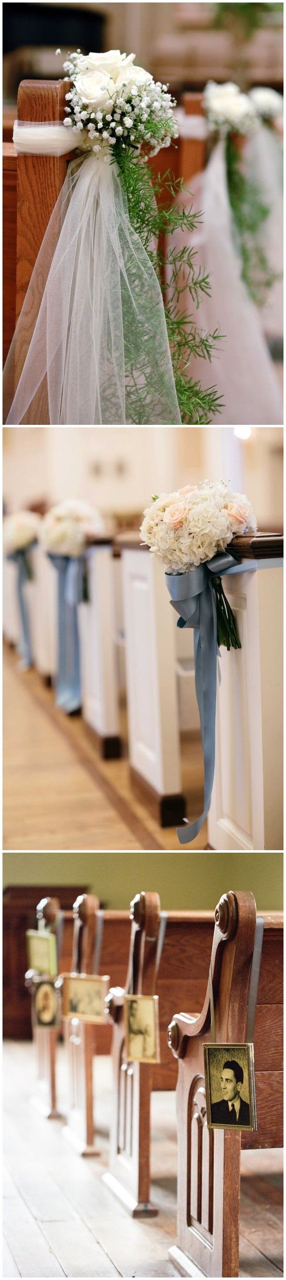 All white church wedding decor  best Church flowers images on Pinterest  Church flowers Floral