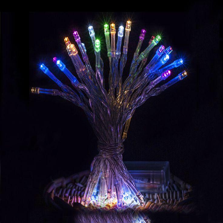 4 М 40 свет шнура сид 3 АА Батареи Powered СВЕТОДИОДНЫЕ Украшения для Свадьбы Рождество, Партии гирлянды светодиодные огни на открытом воздухе