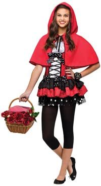 Sweet Red Hood Teen Girls Costume Red Riding Hood Costumes