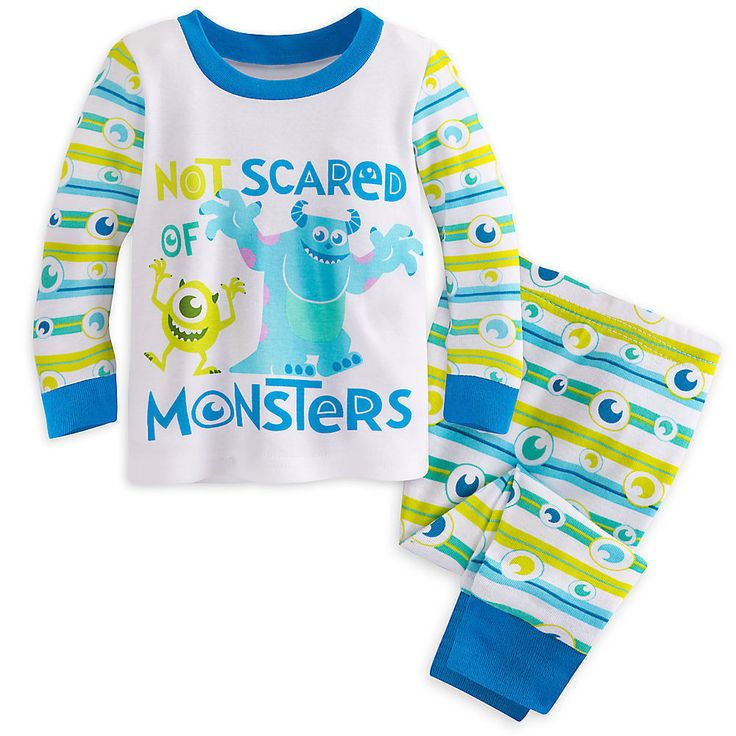 """Disney Store Monsters Inc """"Not Scared of Monsters"""" Pajama Set - Baby Boys 9-12M"""