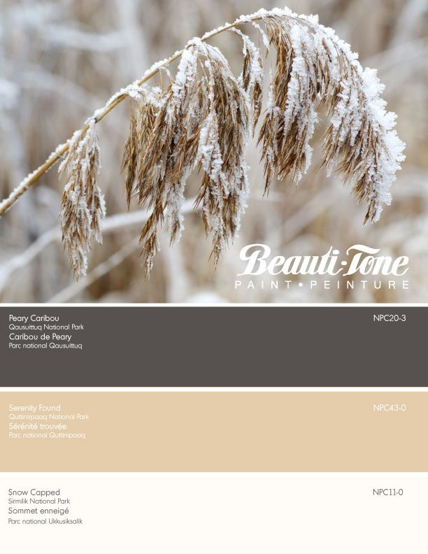 Beauti-Tone's frosted colours captured from the prairie grasslands is a natural palette of sheer beauty.
