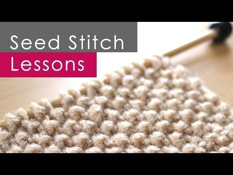 How to Knit the SEED STITCH: Knitting Lessons for Beginners