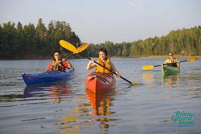 Kayakfahren vor PEI