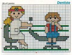 Dentista de punto de cruz.
