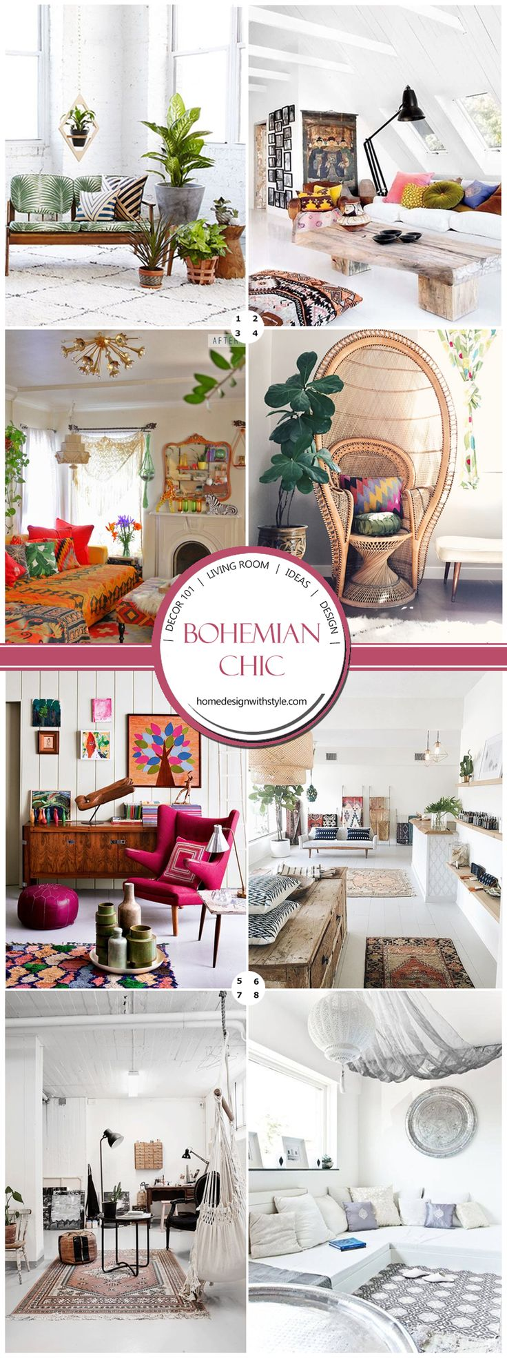 Bohemian Living Room Decor (boho chic decor), (boho chic hippie decor), (bohemian decor), (modern bohemian living room decor), (bohemian living room ideas)