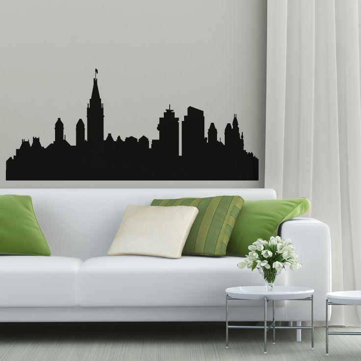 Vinilo decorativo de Amsterdam vista skyline de la ciudad. Precios y Medidas en http://www.vinilosinbox.com