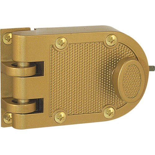 Prime-Line Products U 9970 Deadlock, Jimmy-Resistant, Single Cylinder, Brass Finish