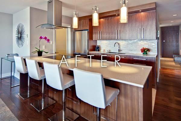 25 best ideas about open galley kitchen on pinterest for Turning a galley kitchen into an open kitchen