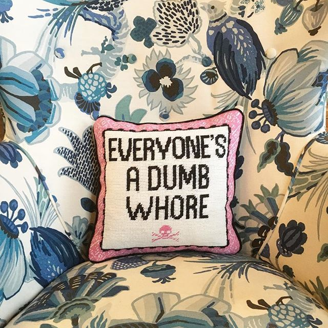 Our Fav Needlepoint Pillow is back!