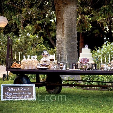 pretty vintage dessert bar, candy bar buffet  #vintage #wedding #dessertbuffet  wedding ideas and inspiration