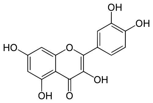 Skeletal formula of quercetin