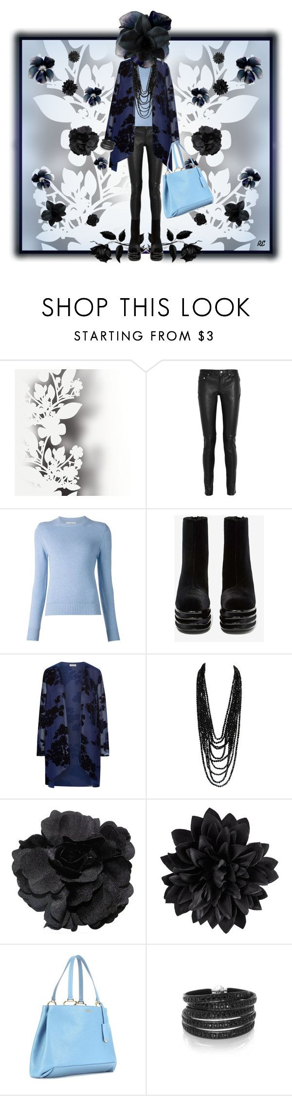 """""""Black Flowers"""" by rozelle ❤ liked on Polyvore featuring Mode, Élitis, Yves Saint Laurent, Barrie, Jeffrey Campbell, Jacques Vert, Black Orchid, H&M, Miu Miu und Sif Jakobs Jewellery"""