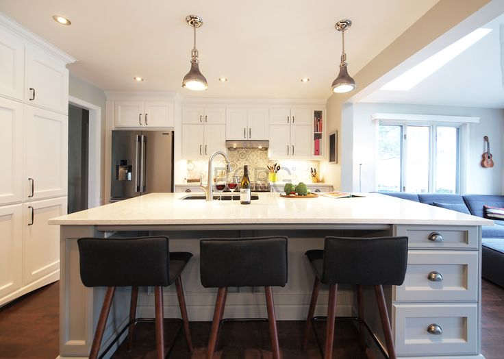 Contemporary kitchen style with maple cabinet.