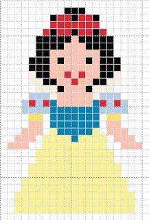 Luvs 2 Knit Disney Princess Chart Cross Stitch