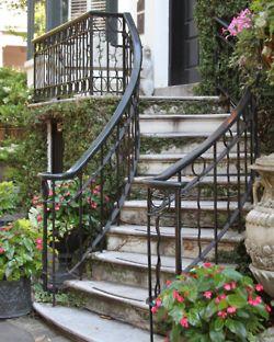 seersuckerandmagnolias:    A staircase in Savannah, Georgia