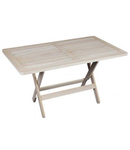 τραπέζι λευκό κήπου απο ξύλο οξιάς