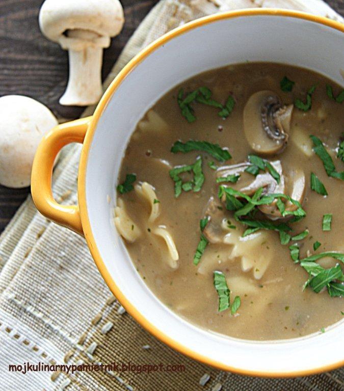 Bernika - mój kulinarny pamiętnik: Zupa pieczarkowa tajska