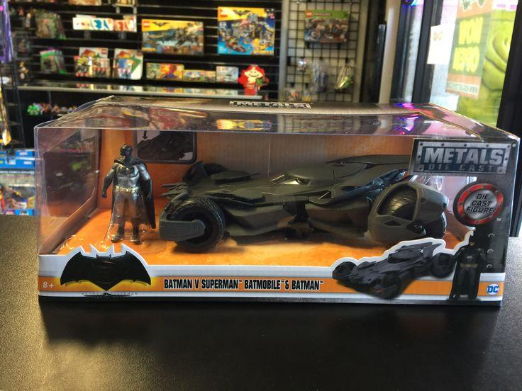 Jada Metals Die-Cast DC Batman Vs. Superman Batmobile with Batman