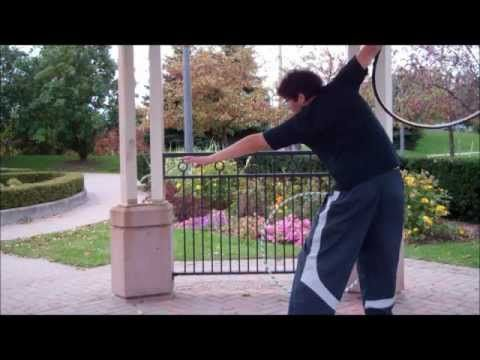 Off Body Hoop Tutorial: The Bowler - YouTube