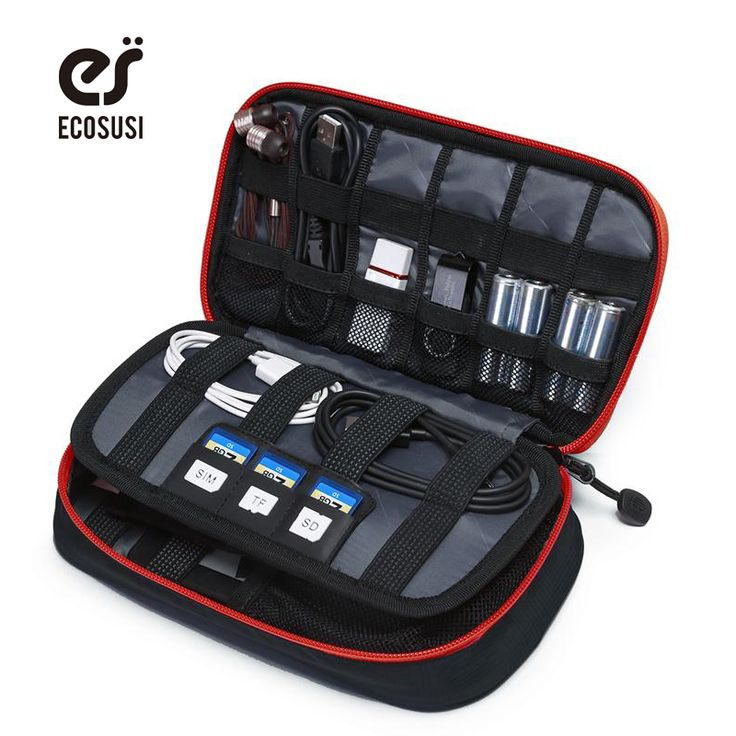 ECOSUSI Portable Digital Accessories Gadget Devices Organizer USB Cable Charger Tote Case Storage Bag Travel Organizer Bags -- Offer can be found by clicking the image