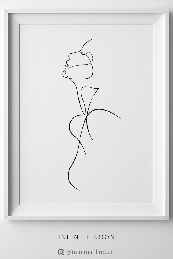 Minimalist Silhouette Girl, Abstract Naked Woman Print, Female Nudity Printable Wall Art, One Line Feminine Figure, Woman Line Drawing Print – Frenzis