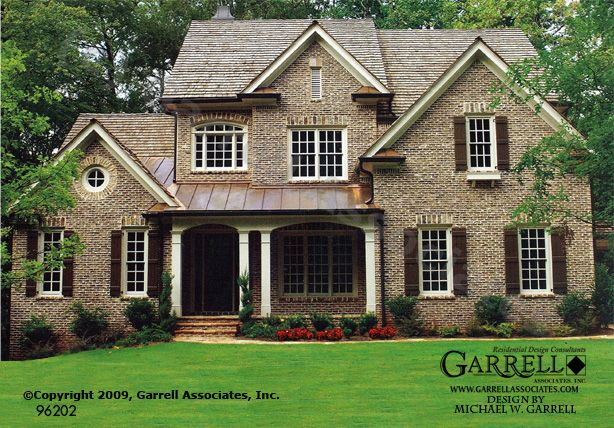 Garrell Associates, Inc. Vinings House Plan # 96202,Traditional Style House Plans, Design by Michael W. Garrell